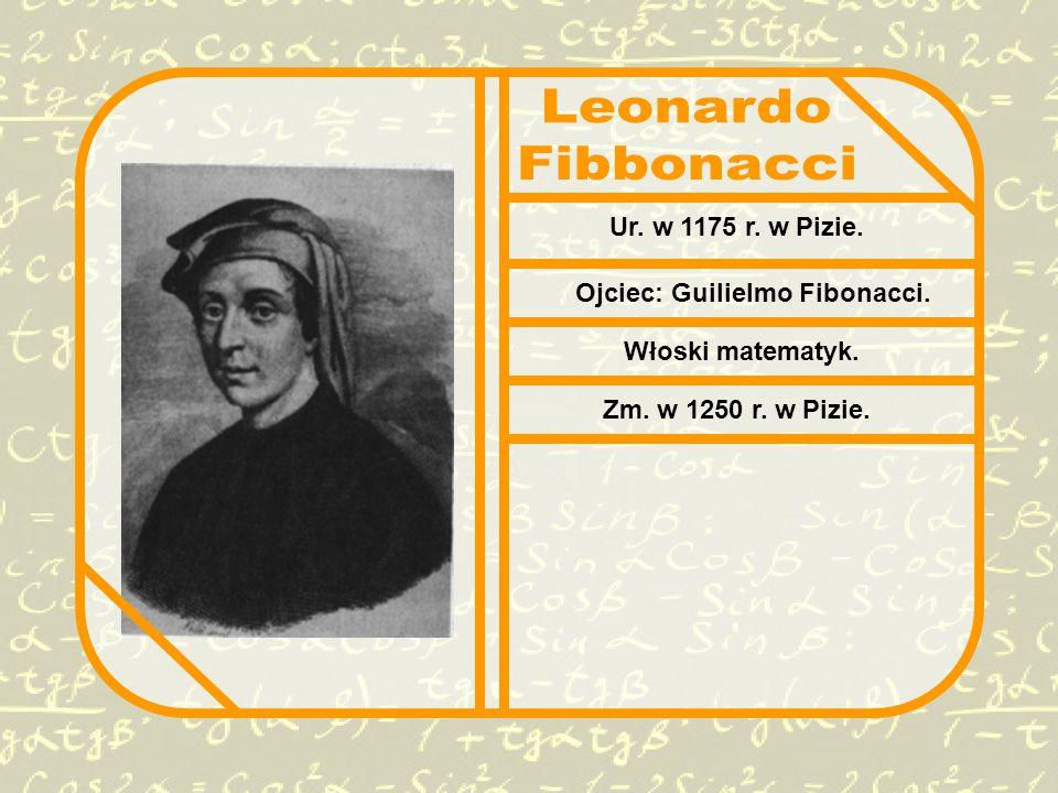 Ojciec: Guilielmo Fibonacci.