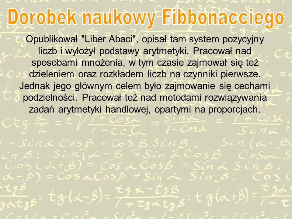 Dorobek naukowy Fibbonacciego