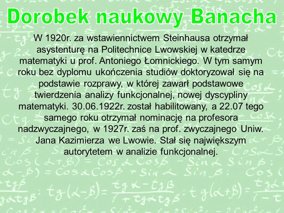 Dorobek naukowy Banacha