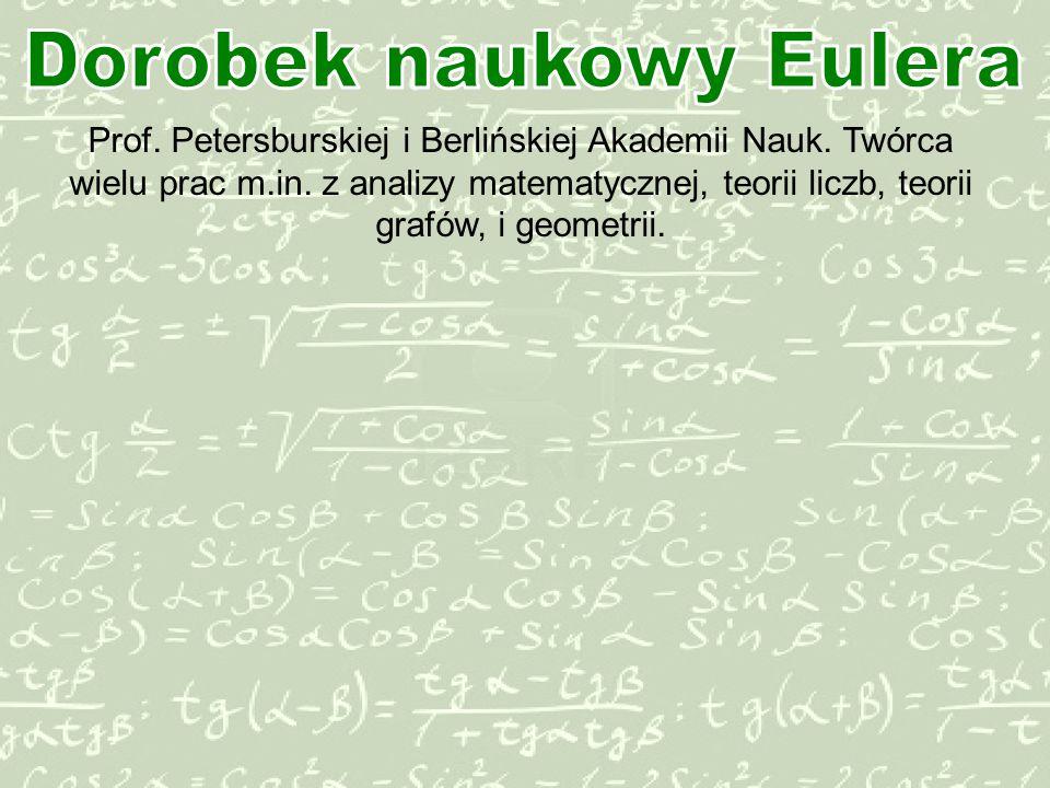 Dorobek naukowy Eulera