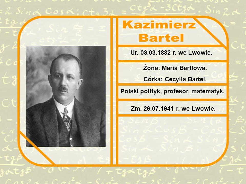 Polski polityk, profesor, matematyk.