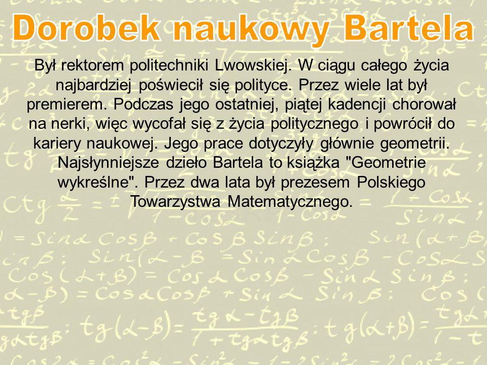 Dorobek naukowy Bartela