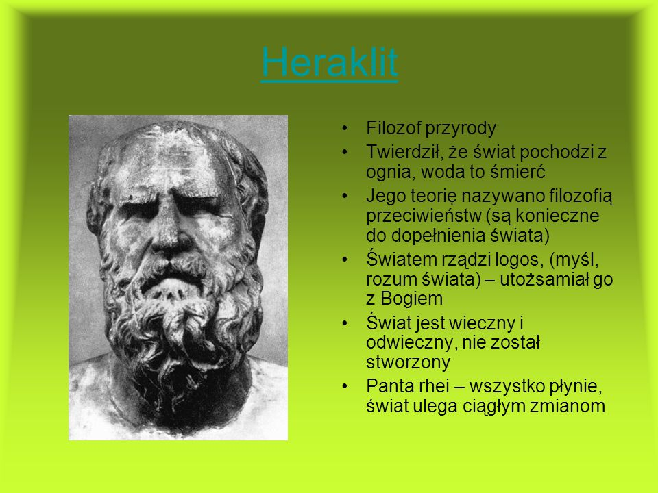 Heraklit Filozof przyrody