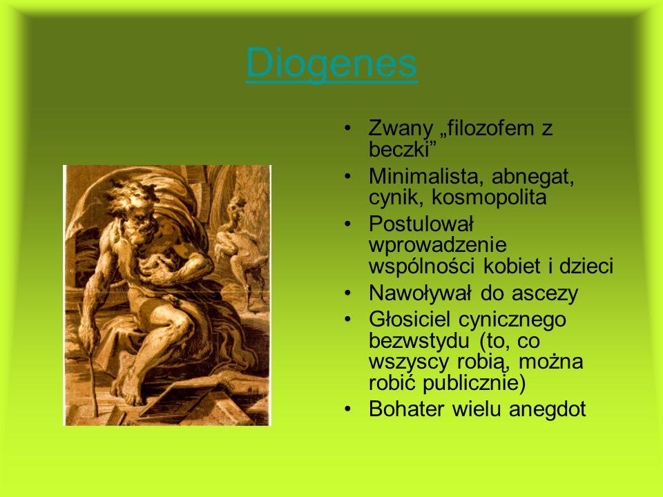 """Diogenes Zwany """"filozofem z beczki"""