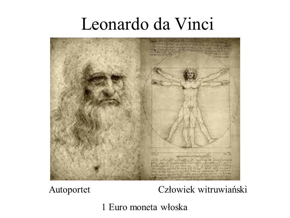 Leonardo da Vinci Autoportet Człowiek witruwiański