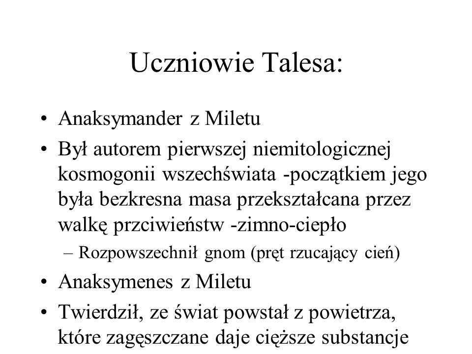 Uczniowie Talesa: Anaksymander z Miletu