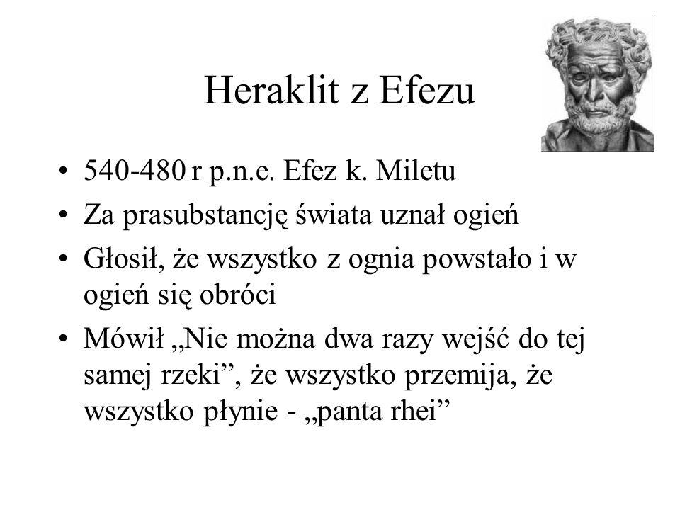 Heraklit z Efezu 540-480 r p.n.e. Efez k. Miletu