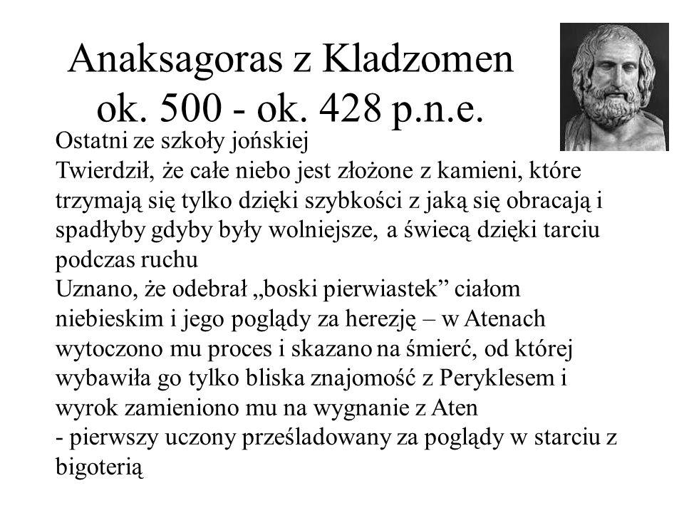 Anaksagoras z Kladzomen ok. 500 - ok. 428 p.n.e.