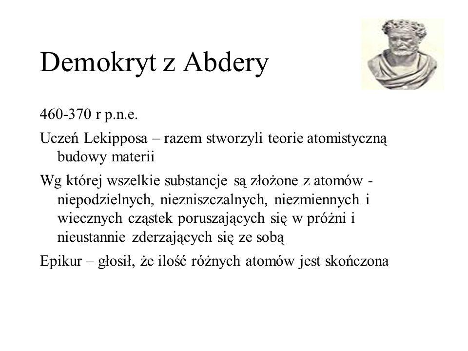 Demokryt z Abdery 460-370 r p.n.e.