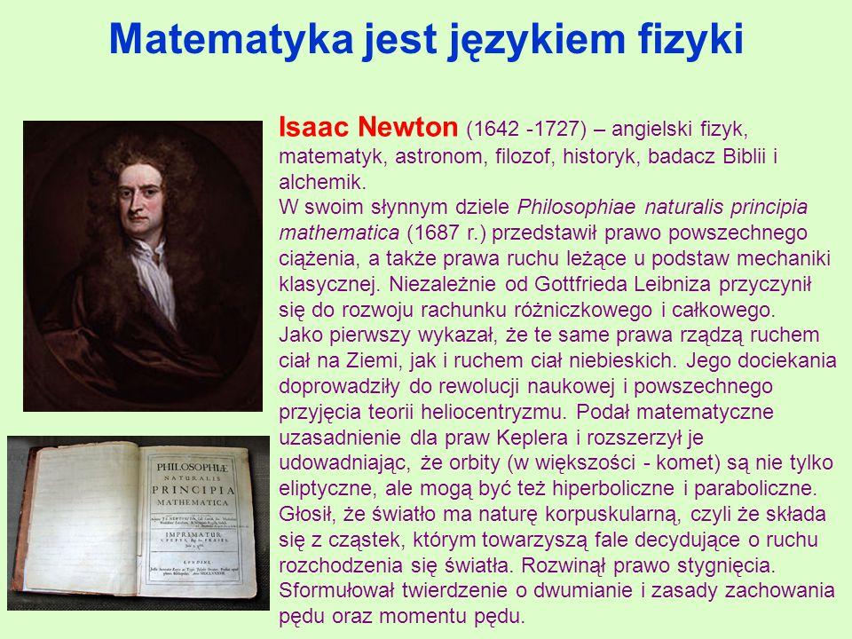 Matematyka jest językiem fizyki