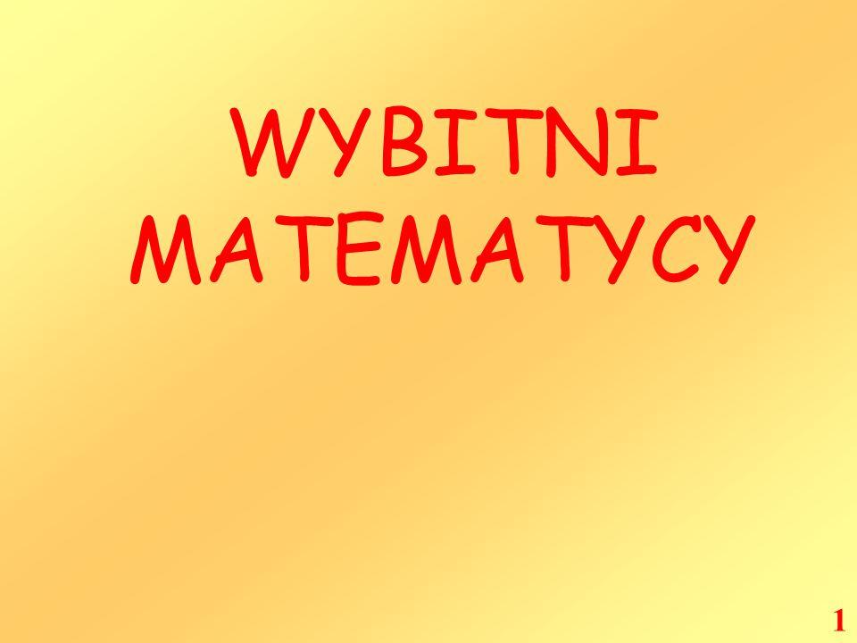 WYBITNI MATEMATYCY 1