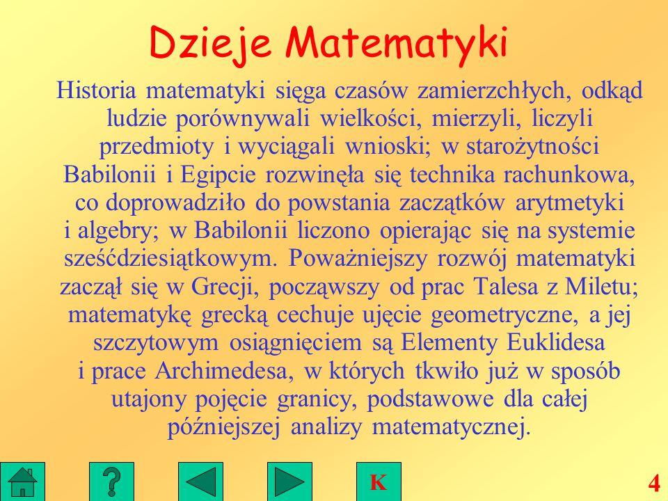 Dzieje Matematyki