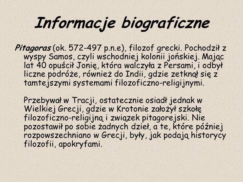 Informacje biograficzne