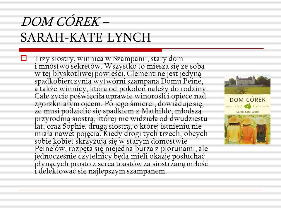 DOM CÓREK – SARAH-KATE LYNCH