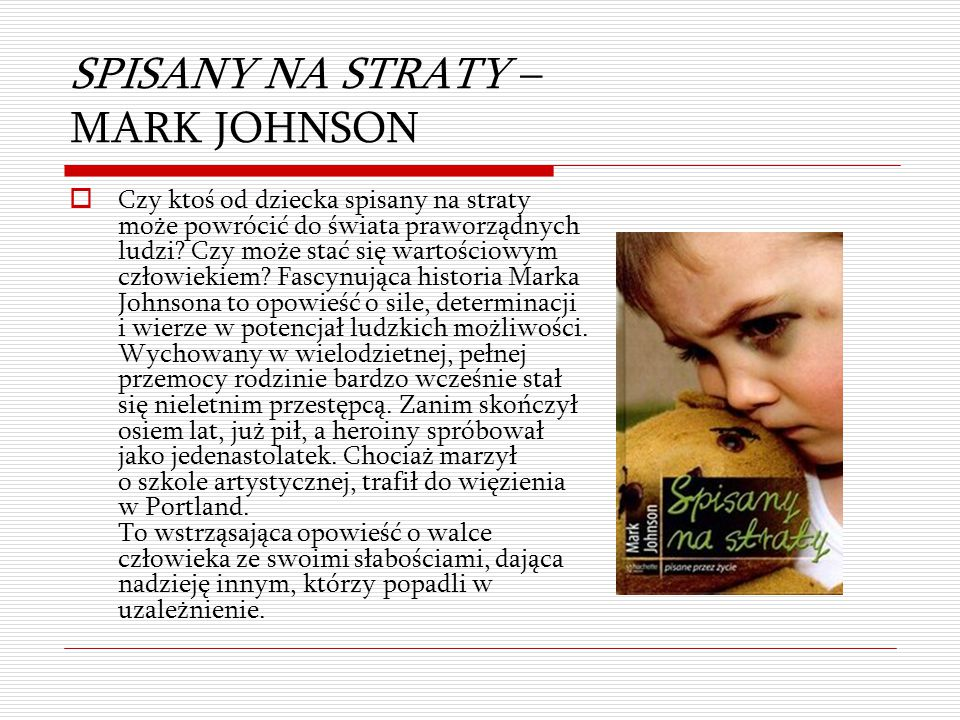 SPISANY NA STRATY – MARK JOHNSON