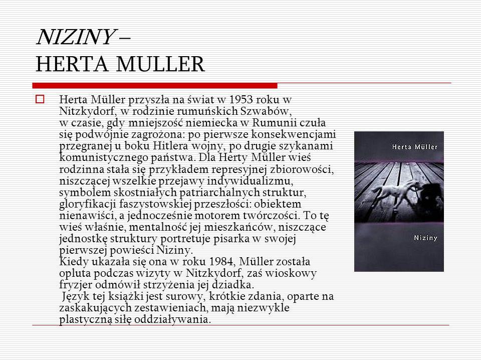 NIZINY – HERTA MULLER