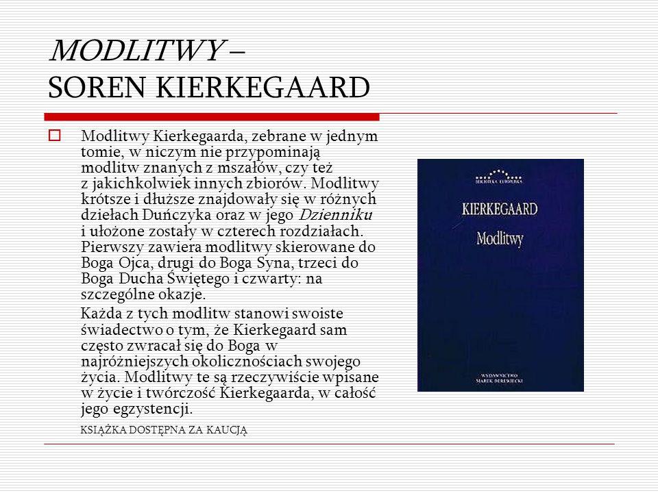 MODLITWY – SOREN KIERKEGAARD