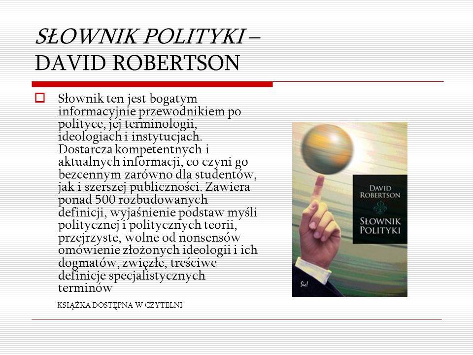 SŁOWNIK POLITYKI – DAVID ROBERTSON