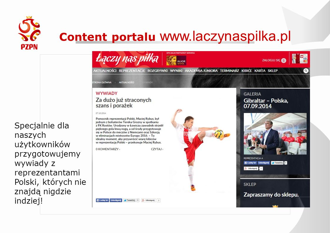 Content portalu www.laczynaspilka.pl