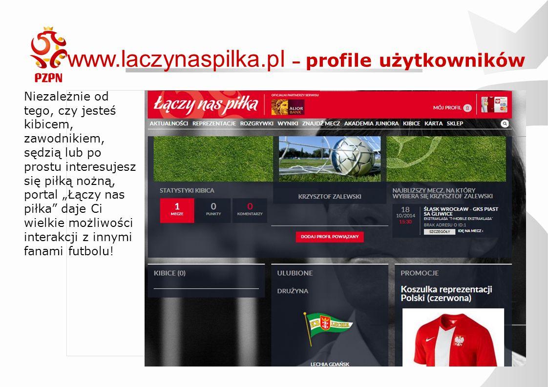 www.laczynaspilka.pl – profile użytkowników