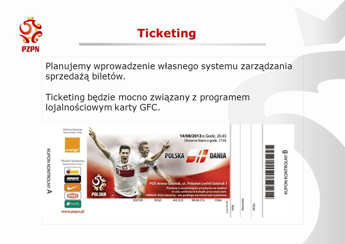 Ticketing Planujemy wprowadzenie własnego systemu zarządzania sprzedażą biletów.