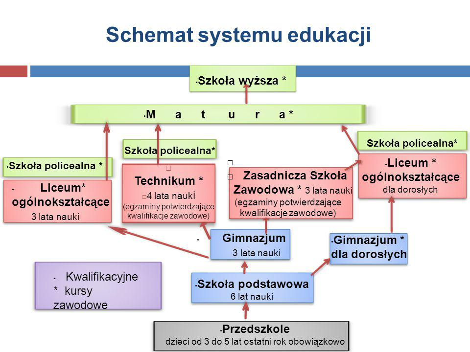 Schemat systemu edukacji