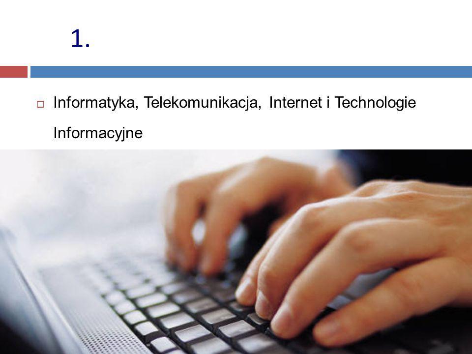1. Informatyka, Telekomunikacja, Internet i Technologie Informacyjne
