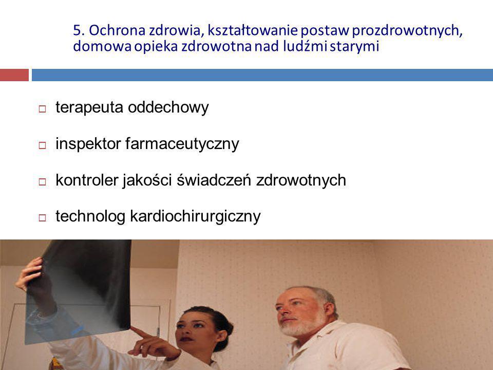 5. Ochrona zdrowia, kształtowanie postaw prozdrowotnych, domowa opieka zdrowotna nad ludźmi starymi