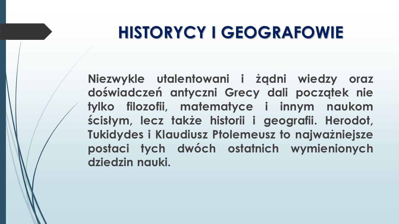 HISTORYCY I GEOGRAFOWIE