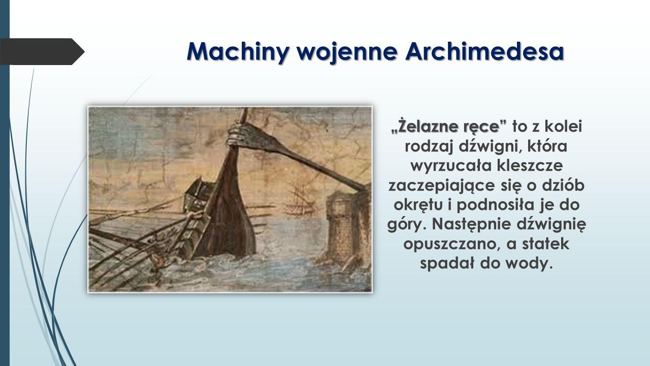 Machiny wojenne Archimedesa