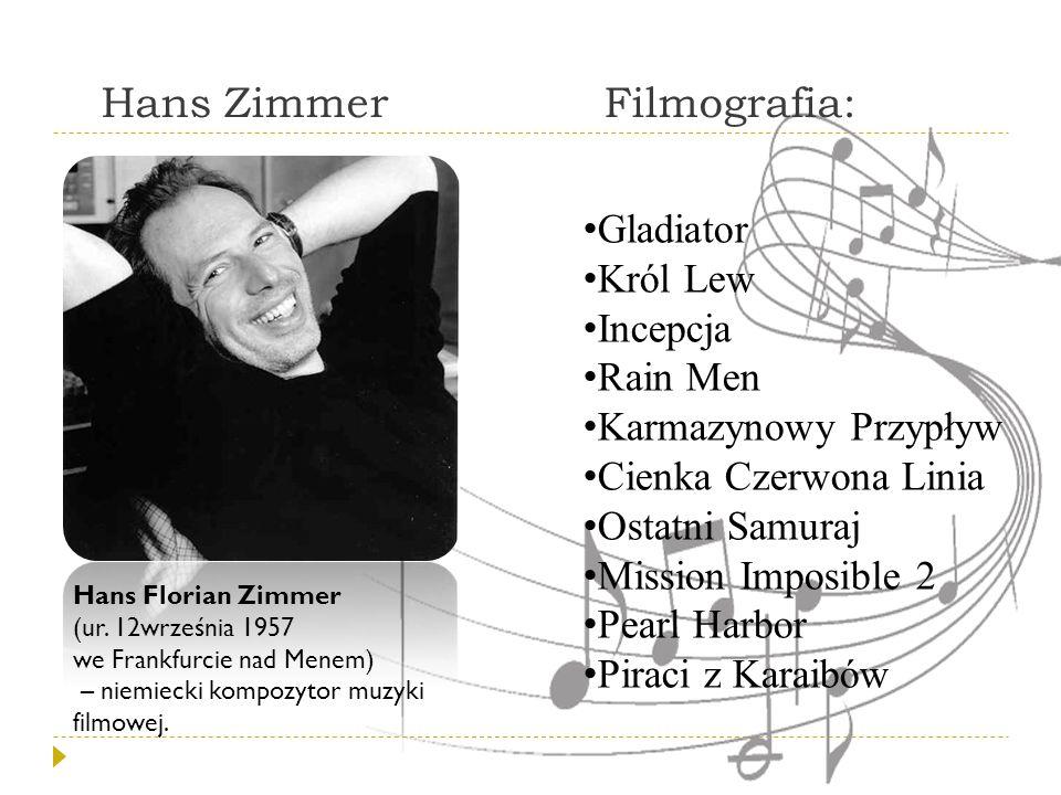 Hans Zimmer Filmografia: