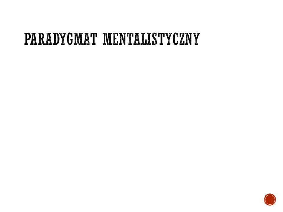 Paradygmat mentalistyczny