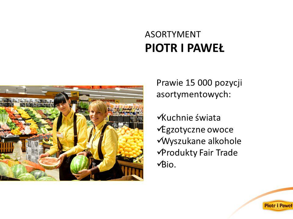 PIOTR I PAWEŁ ASORTYMENT Prawie 15 000 pozycji asortymentowych: