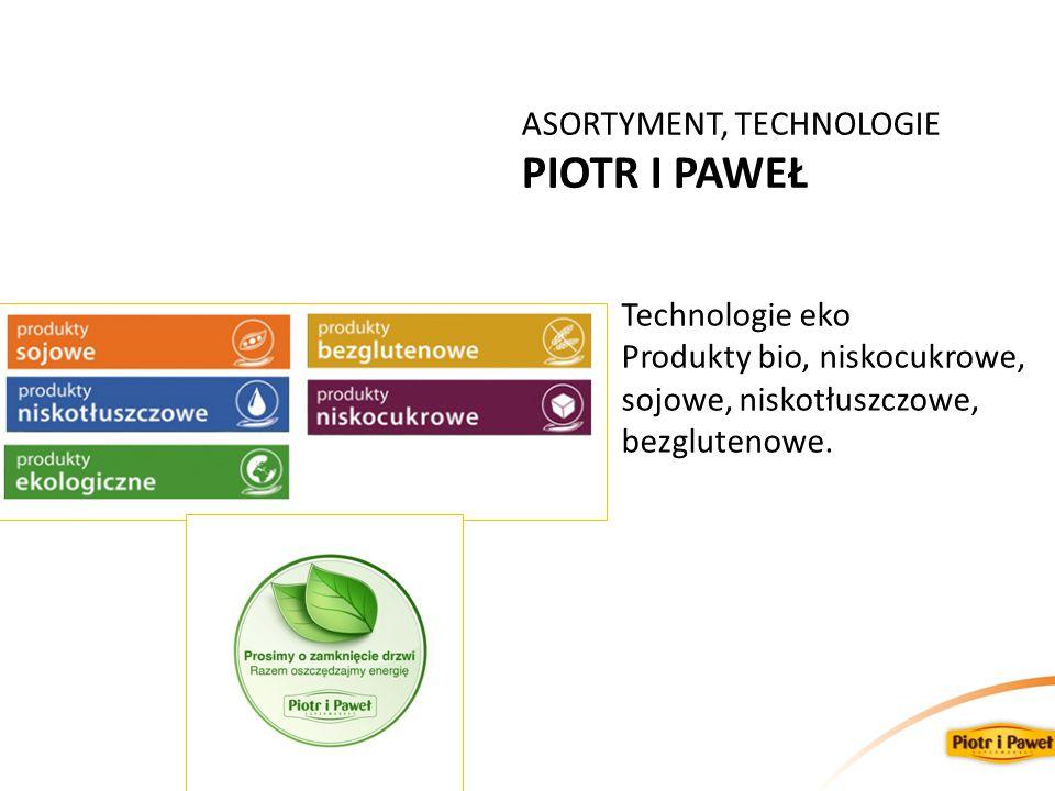 PIOTR I PAWEŁ ASORTYMENT, TECHNOLOGIE Technologie eko
