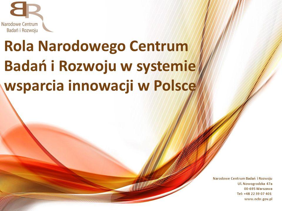 Rola Narodowego Centrum Badań i Rozwoju w systemie wsparcia innowacji w Polsce