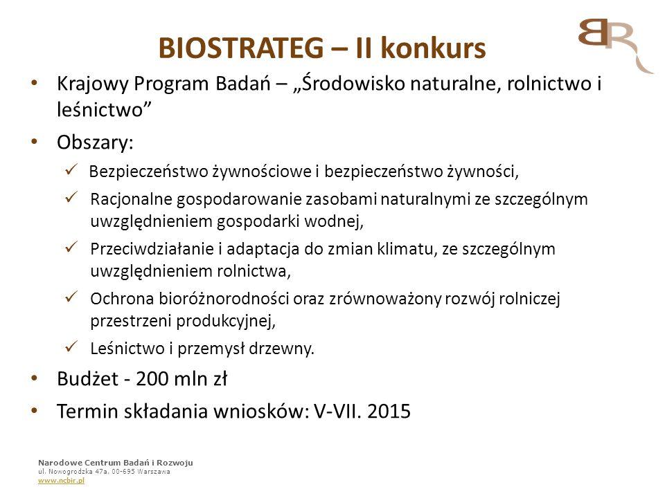 BIOSTRATEG – II konkurs