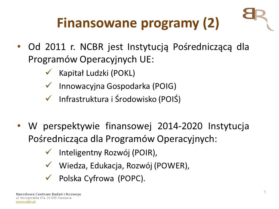 Finansowane programy (2)