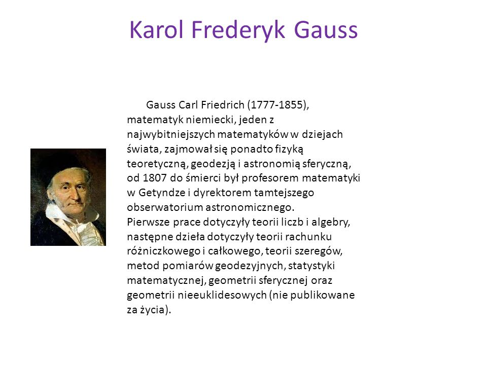 Karol Frederyk Gauss