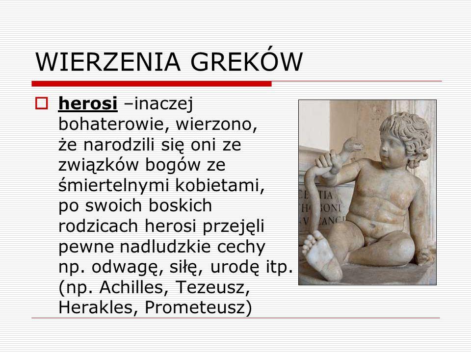 WIERZENIA GREKÓW