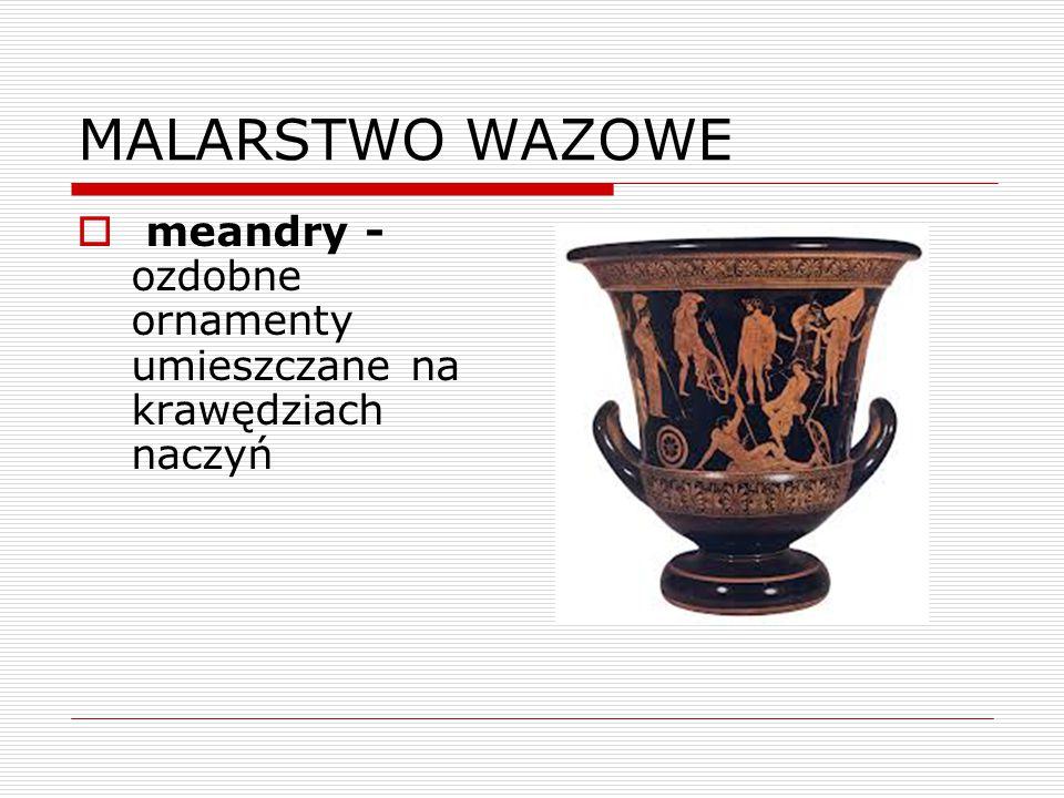 MALARSTWO WAZOWE meandry - ozdobne ornamenty umieszczane na krawędziach naczyń