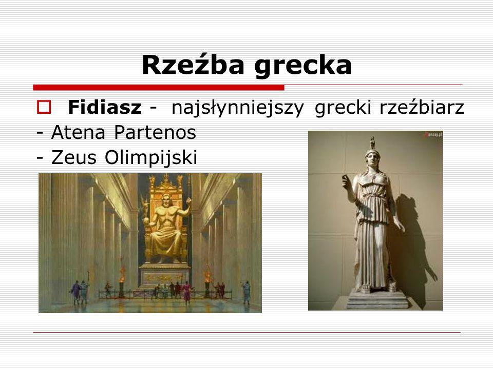 Rzeźba grecka Fidiasz - najsłynniejszy grecki rzeźbiarz