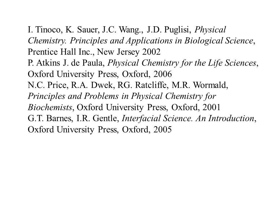 I. Tinoco, K. Sauer, J. C. Wang. , J. D. Puglisi, Physical Chemistry