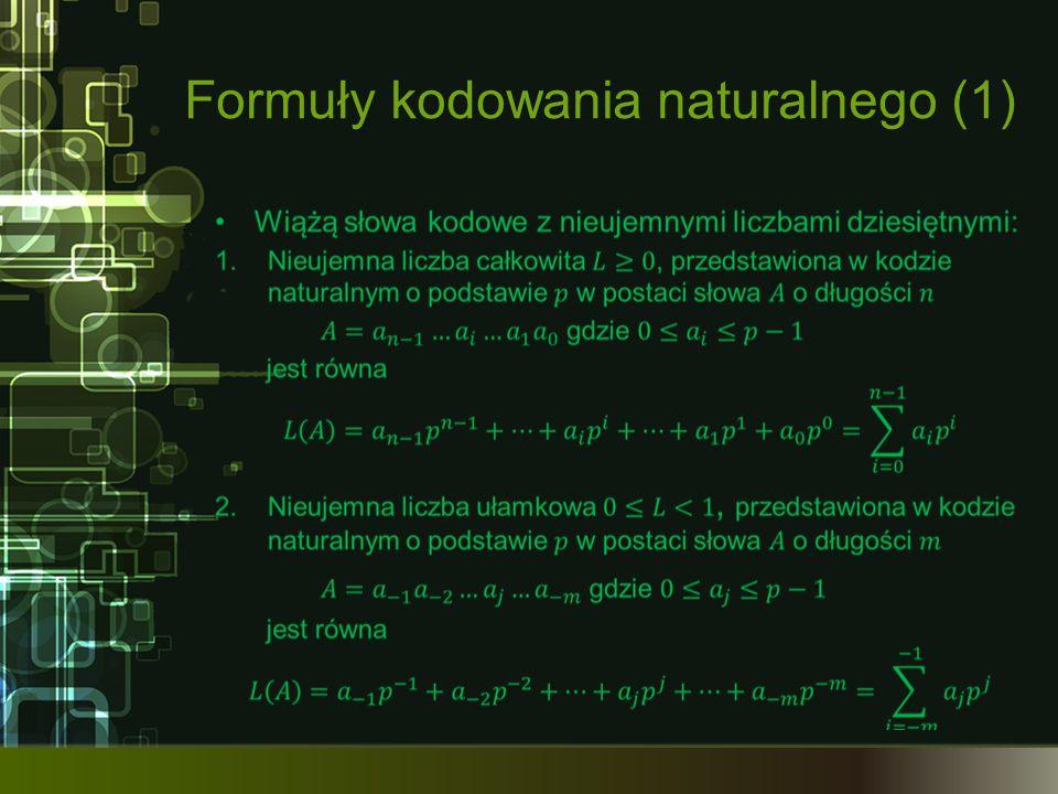 Formuły kodowania naturalnego (1)