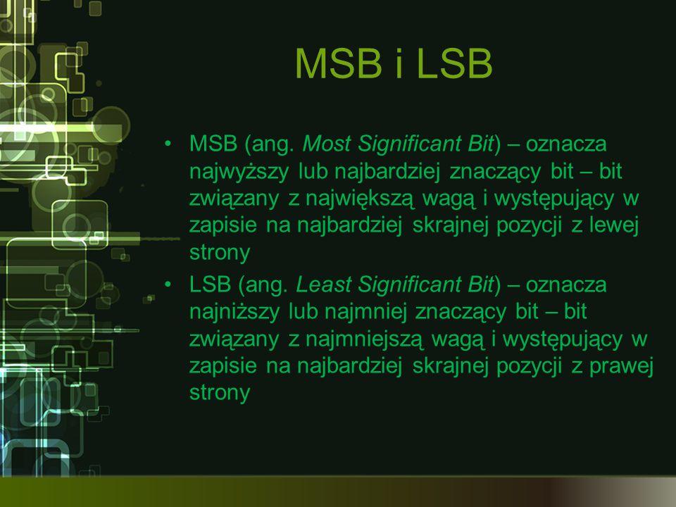 MSB i LSB