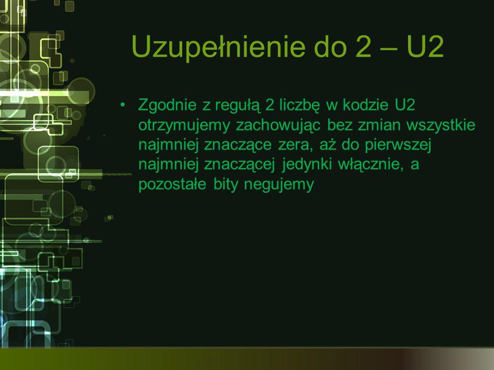 Uzupełnienie do 2 – U2