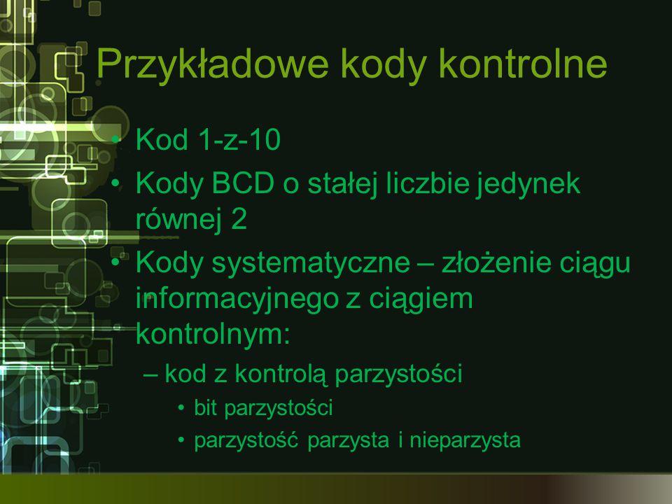 Przykładowe kody kontrolne