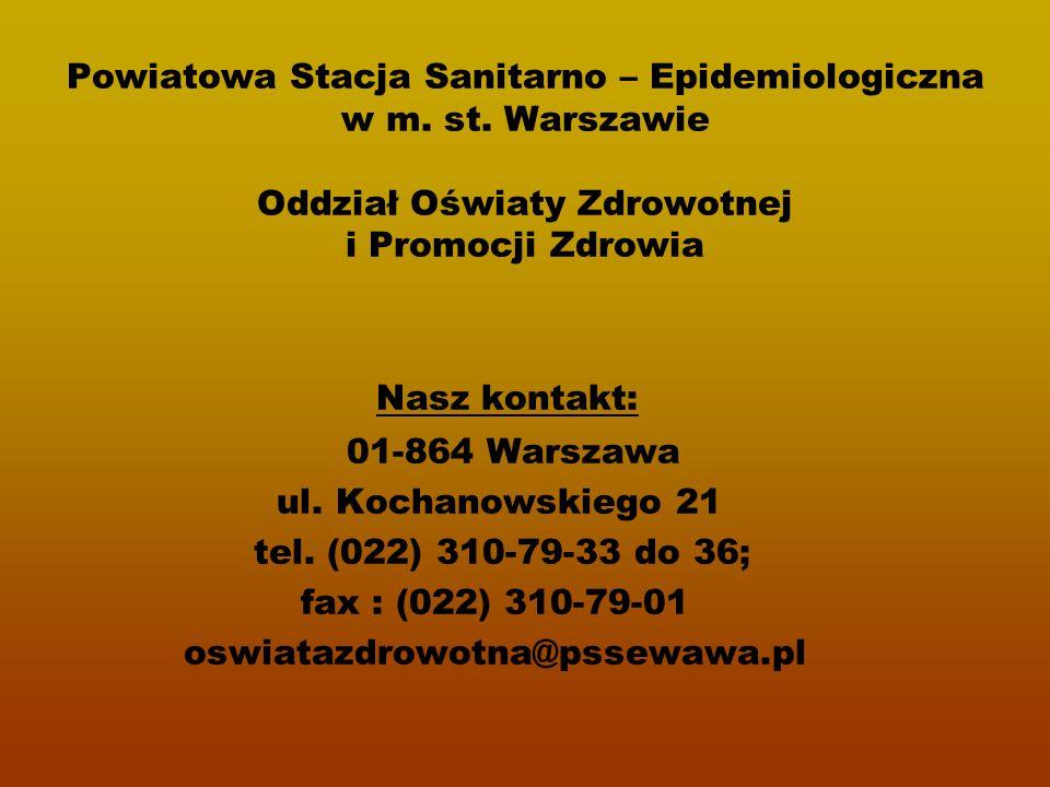 Powiatowa Stacja Sanitarno – Epidemiologiczna w m. st