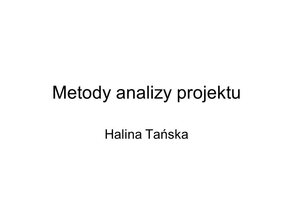 Metody analizy projektu