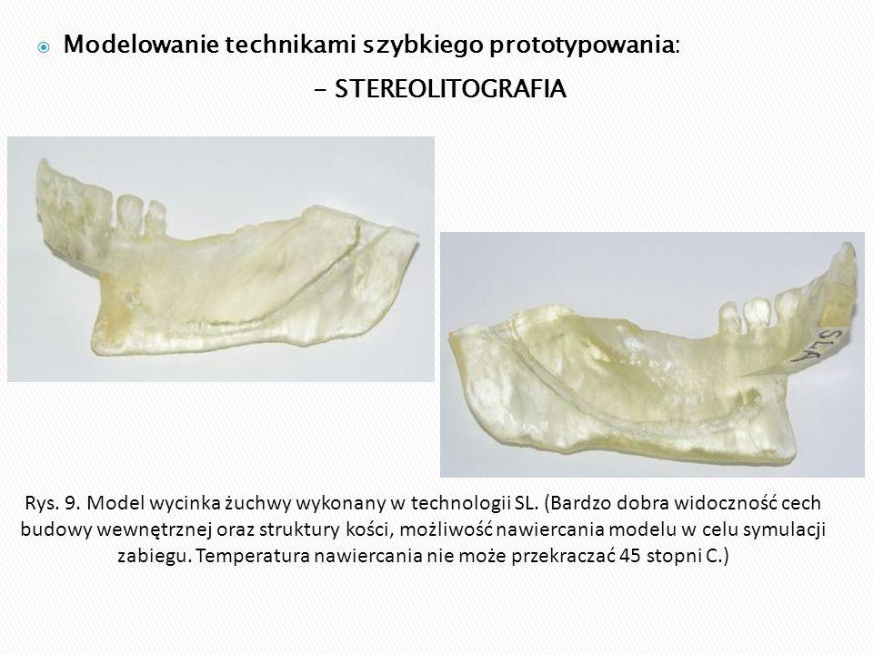 Modelowanie technikami szybkiego prototypowania: - STEREOLITOGRAFIA