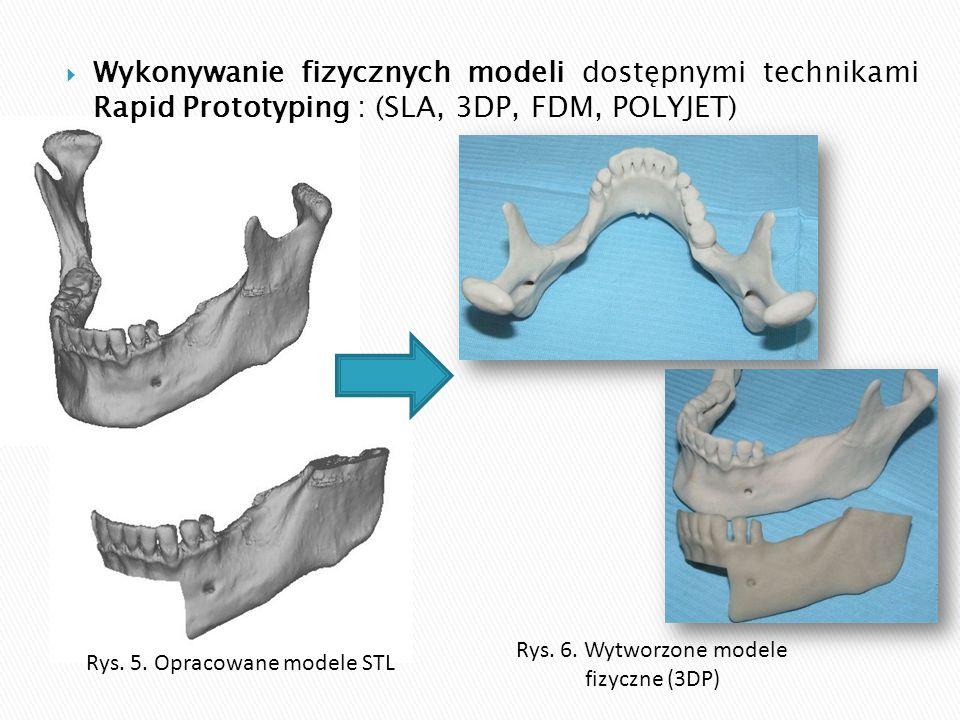 Wykonywanie fizycznych modeli dostępnymi technikami Rapid Prototyping : (SLA, 3DP, FDM, POLYJET)